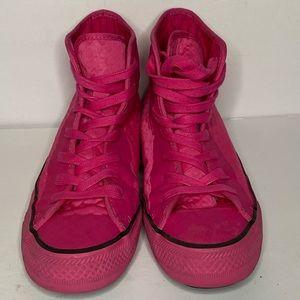 High top bubblegum pink converse